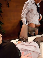Ass bondage - her cock is so big it's almost impossible to say yes or no to the pleasure and pain that rocks him She cums in your mouth, he cums
