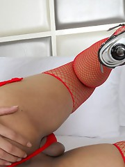 Arty is a horny and stunning looking girl with a hot sexy body, big breasts and a rock hard cock.