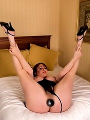 Sweet tgirl Wendy taking a huge black cock