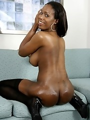 Crystal is the perfect black tgirl. She has some melon-sized tits and a curvy chocolate body. Everything about her is delicious, right down to her dar