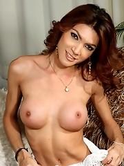 Sexy tgirl showing you her beautiful long cock