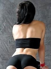 Busty Morena Del Sol Posing Her Fat Cock